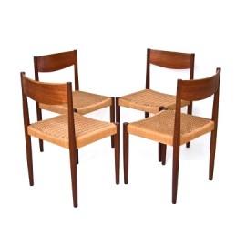 Duńskie krzesła proj. Poul Volther lata 60