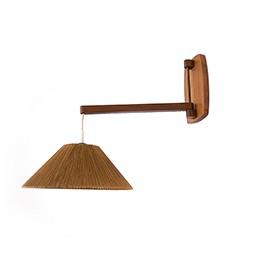 Teakowa lampka – kinkiet
