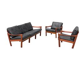 Sofa + fotele proj. Illum Wikkelso