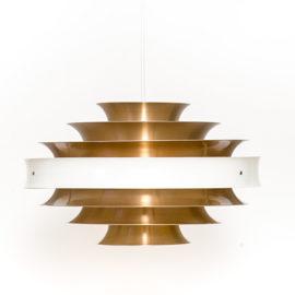 Aluminiowa lampa skandynawska, lata 60