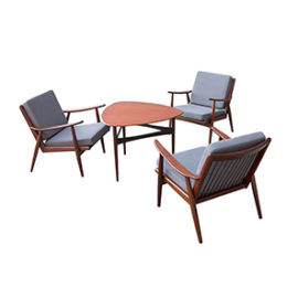 "Kącik kawowy ""Bumerang"" – fotele i stolik"