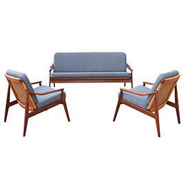 Sofa z fotelami Wilkhahn proj. Hartmut Lohmeyer