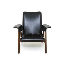 Fotel tekowy, proj. Louis van Teeffelen, lata 60